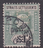 Malaysia-Straits Settlements SG 119 1902 King Edward VII, 1902  $ 1.00 Dull Green And Black, Perforated, Used - Straits Settlements