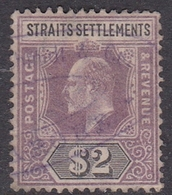 Malaysia-Straits Settlements SG 120 1902 King Edward VII, $ 2.00 Dull Purple And Black, Used - Straits Settlements