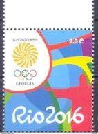 2016. Georgia, Olympic Games Rio De Janeiro, 1v, Mint/** - Géorgie