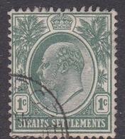 Malaysia-Straits Settlements SG 127 1904 King Edward VII, 1c Deep Green, Used - Straits Settlements