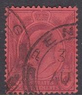 Malaysia-Straits Settlements SG 129 1905 King Edward VII, 4c Purple Red, Used - Straits Settlements