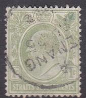 Malaysia-Straits Settlements SG 152 1910 King Edward VII, 1c Blue Green, Used - Straits Settlements