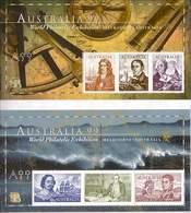 1999 - Australian NAVIGATORS Of AUSTRALIA (2) A99 PERFIN Minisheet Minature Sheet MNH - Blocks & Sheetlets