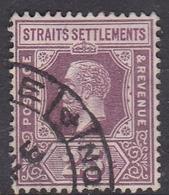 Malaysia-Straits Settlements SG 161 1909 King Edward VII, 25c Dull And Bright Purple, Used - Straits Settlements