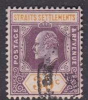 Malaysia-Straits Settlements SG 162 1909 King Edward VII, 30c Purple And Orange Yellow, Used - Straits Settlements