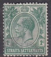 Malaysia-Straits Settlements SG 193 1912 King George V, 1c Green, Used - Straits Settlements