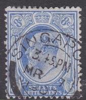 Malaysia-Straits Settlements SG 201 1913 King George V, 8c Ultramarine, Used - Straits Settlements