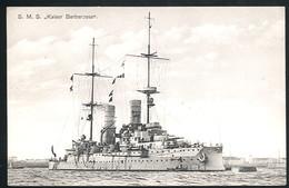 AK/CP Kaiserliche Marine  SMS  Kaiser Barbarossa    Ungel/uncirc. Ca 1910   Erhaltung/Cond. 1-  Nr. 00461 - Guerre