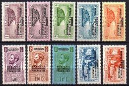 Col9  AEF Afrique : N° 17 à 26   Neuf  X MH  , Cote : 80,00 Euro - A.E.F. (1936-1958)