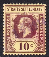 Malaysia-Straits Settlements SG 202 1912 King George V, 10c Purple, Used - Straits Settlements