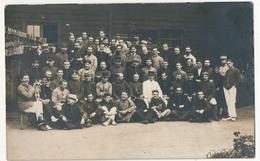 CPA Photo - Groupe De Prisonniers - Camp De Rennbahn (Munster) - 1916 - Guerre 1914-18