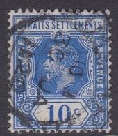 Malaysia-Straits Settlements SG 202 1919 King George V, 10c Blue, Used - Straits Settlements