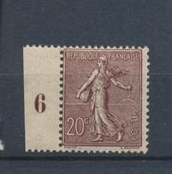 France N°131a 20c Brun-lilas Foncé N** Cote 220 € Signé Calves N2261 - Neufs