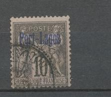Colonies Française PORT-LAGOS N°2 10c Noir-lilas Obl. Signé CALVES. TB. N2782 - Port-Lagos (1893-1931)