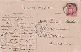 ALGERIE - SEMEUSE - CACHET T15  - AKBOU - CONSTANTINE - 9 DECEMBRE 1905 - CARTE POUR LA FRANCE. - Algeria (1924-1962)