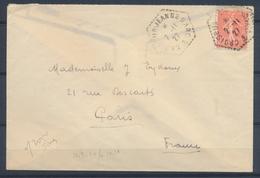 2/11/1927 Env. 50c Semeuse Obl. CROISEUR-JEANNE-D'ARC, Rare, Superbe X1463 - Postmark Collection (Covers)