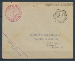 1947 Env. Cachet CROISEUR-ECOLE-JEANNE-D'ARC + Linéaire, Superbe X1467 - Marcophilie (Lettres)