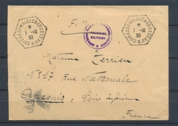 1930 Env. Obl. CUIRASSE-WALDECK-ROUSSEAU, Superbe X1479 - Postmark Collection (Covers)