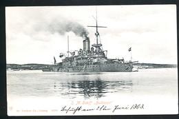AK/CP Östereich Ungarn  KUK  Marine  SMS  Budapest   Ungel/uncirc.ca 1903   Erhaltung/Cond. 2-  Nr. 00465 - Warships
