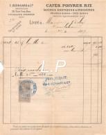 2962     1897  FACTURE CAFES E.BERNHARD & CIE A LEVALLOIS PERRET - M.VERLY A - France