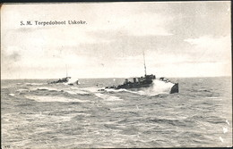 AK/CP Östereich Ungarn  KUK  Marine  SM  Torpedoboot Uskoke   Gel/circ. 1909  POLA    Erhaltung/Cond. 2-  Nr. 00466 - Guerra