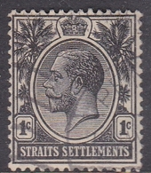 Malaysia-Straits Settlements SG 218 1922 King George V, 1c Black, Used - Straits Settlements
