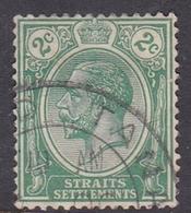 Malaysia-Straits Settlements SG 219 1921 King George V, 2c Green, Used - Straits Settlements