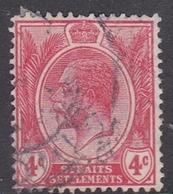 Malaysia-Straits Settlements SG 222 1921 King George V, 4c Carmine Red, Used - Straits Settlements
