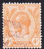 Malaysia-Straits Settlements SG 224 1929 King George V, 4c Orange, Used - Straits Settlements