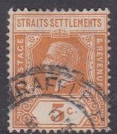 Malaysia-Straits Settlements SG 225 1921 King George V 5c Orange, Used - Straits Settlements