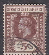 Malaysia-Straits Settlements SG 226 1932 King George V, 5c Brown, Used - Straits Settlements