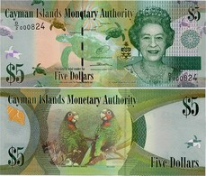 CAYMAN IS.        5 Dollars       P-39[b]       2014       UNC  [ Prefix: D/2 ] - Iles Cayman