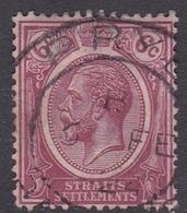 Malaysia-Straits Settlements SG 227 1922 King George V, 6c Claret, Used - Straits Settlements