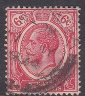 Malaysia-Straits Settlements SG 229 1922 King George V, 6c Scarlet, Used - Straits Settlements