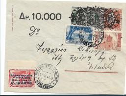 Gr-24-062 / Griechenland, Piräus,  Bombenmarke Und Andere Auf GU 12, Aufbrauchausgabe 1944 - Storia Postale