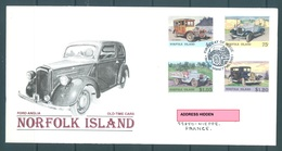 NORFOLK ISLANDS  - 7.2.1995 - FDC - OLD TIME CARS - Yv 567-568  SG  583-586 - Lot 16944 - LIGHT HINGED AT BACKSIDE - Ile Norfolk