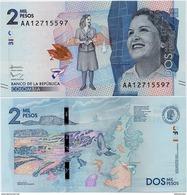 COLOMBIA        2000 Pesos        P-458       19.8.2015 (2016)       UNC - Colombia