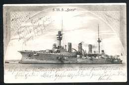 AK/CP Kaiserliche Marine  SMS Freya     Gel/circ. 1900   Erhaltung/Cond. 2-  Nr. 00470 - Guerre
