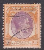 Malaysia-Straits Settlements SG 280 1938 King George VI, 4c Orange, Used - Straits Settlements