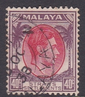 Malaysia-Straits Settlements SG 288 1937 King George VI, 40c Scarlet And Dull Purple, Used - Straits Settlements
