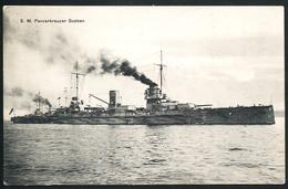 AK/CP Kaiserliche Marine  SMS Goeben      Gel/circ. 1914 SMS König Albert    Erhaltung/Cond. 2  Nr. 00471 - Guerre