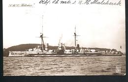 Foto AK/CP Kaiserliche Marine  SMS Blücher      Gel/circ. 1914 SMS Blücher  MSP     Erhaltung/Cond. 2  Nr. 00472 - Guerre