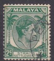 Malaysia-Straits Settlements SG 293 1938 King George VI, 2c Green, Used - Straits Settlements