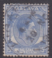 Malaysia-Straits Settlements SG 298 1941 King George VI, 15c Ultramarine, Used - Straits Settlements