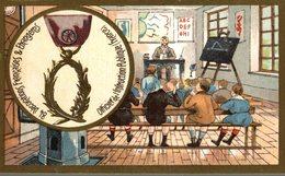 CHROMO  84 DECORATIONS FRANCAISES & ETRANGERES  OFFICIER DE L'INSTRUCTION PUBLIQUE FRANCE - Trade Cards