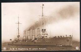 Foto AK/CP Kaiserliche Marine  SMS Magdeburg   Ungel/uncirc.ca 1908   Erhaltung/Cond. 1-  Nr. 00474 - Guerre