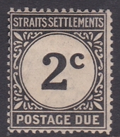 Malaysia-Straits Settlements SG D2 1924 Postage Due, 2c Black, Mint Hinged - Straits Settlements