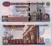 EGYPT        50 Pounds         P-66        5.12.2016        UNC  [ Sign. Amer - 4 Mm. Security Thread ] - Egitto