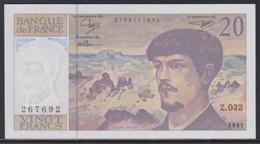 France 20 Francs 1991 UNC - 20 F 1980-1997 ''Debussy''