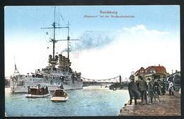 AK/CP Rendsburg  Linienschiff Hannover   Ungel/uncirc. Ca 1910   Erhaltung/Cond. 2/2-  Nr. 00477 - Rendsburg